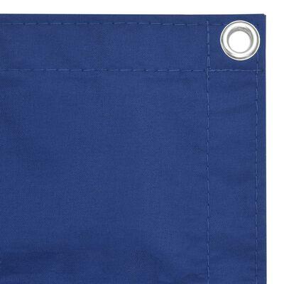 vidaXL Balkongskärm blå 75x500 cm oxfordtyg