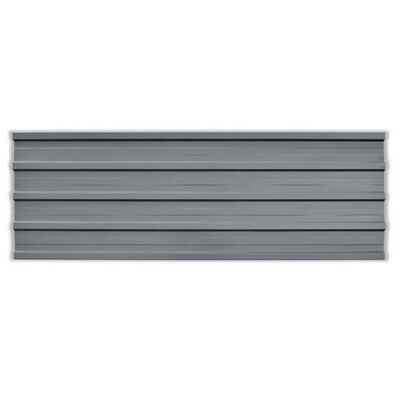 vidaXL Takprofiler 12 st galvaniserat stål grå , Grey