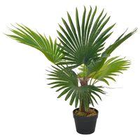 vidaXL Konstväxt Palm med kruka 70 cm grön