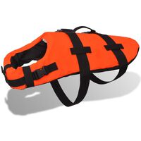 vidaXL Hundflytväst S orange