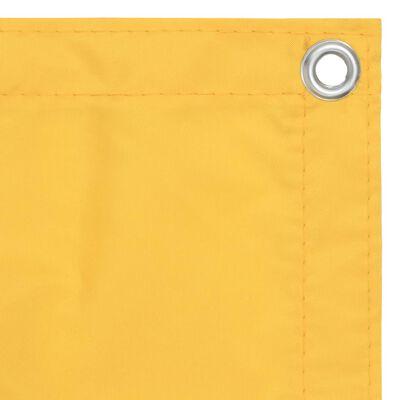 vidaXL Balkongskärm gul 120x300 cm oxfordtyg