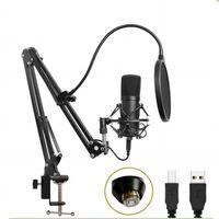 Studio Live Streaming Broadcasting Inspelning Mikrofon Youtube