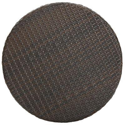 vidaXL Trädgårdsbord brun 75,5x106 cm konstrotting