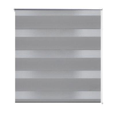 vidaXL Rullgardin Zebra 80 x 150 cm grå
