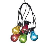 KONSTSMIDE Partylampor med 5 lampor flerfärgade
