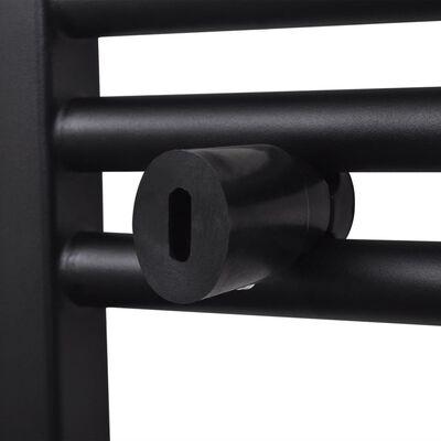 Handdukstork centralvärme element båge svart 480 x 480 mm