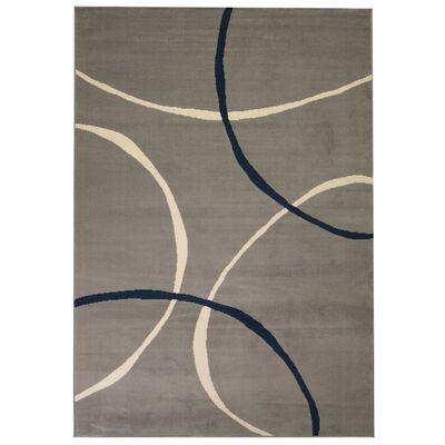 vidaXL Modern matta cirkeldesign 160x230 cm grå
