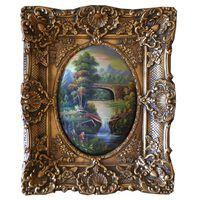 Landskap, oljemålning med ram, innermått 30x40 cm