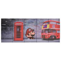 vidaXL Canvastavla London flerfärgad 150x60 cm