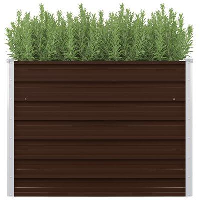 vidaXL Upphöjd odlingslåda brun 100x100x77 cm galvaniserat stål