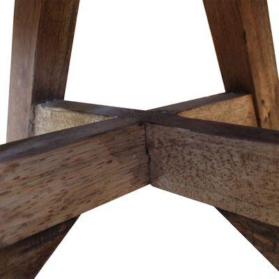 vidaXL Soffbord i massivt återvunnet trä 60x45 cm vit