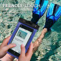 Vattentätt mobilfodral - universalstorlek - blå