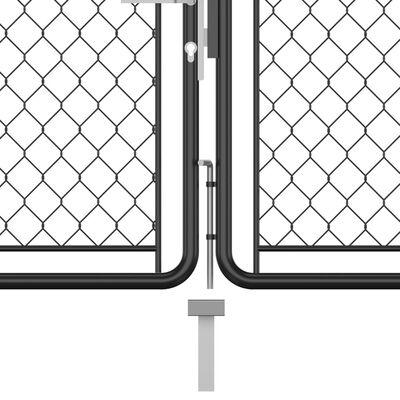 vidaXL Trädgårdsgrind stål 75x495 cm antracit