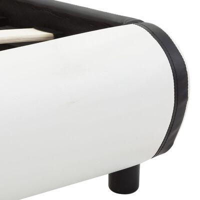 vidaXL Sängram med lådor vit konstläder 180x200 cm