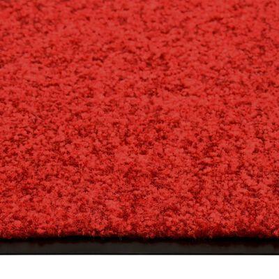 vidaXL Dörrmatta tvättbar röd 90x150 cm