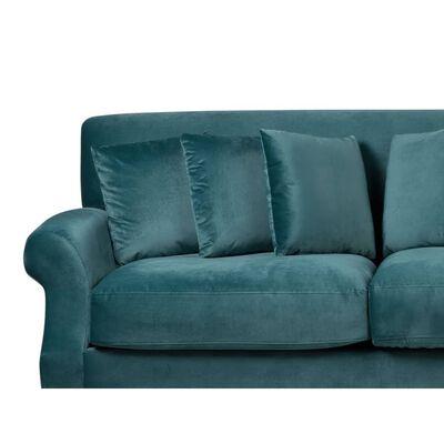Soffa sammet blågrön EIKE