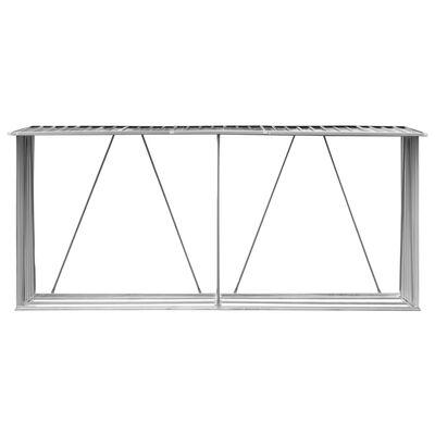 vidaXL Vedskjul galvaniserat stål 330x84x152 cm antracit