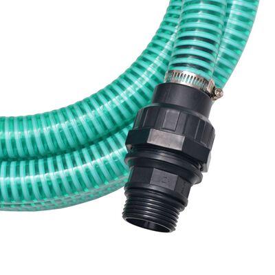 vidaXL Sugslang med koppling 7 m 22 mm grön