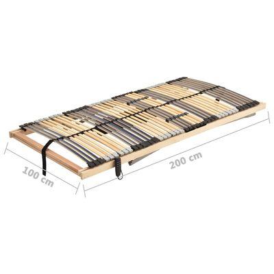 vidaXL Elektrisk ribbotten med 42 ribbor 7 zoner 100x200 cm