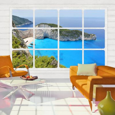 Fototapet - Window On The World - 250x175 Cm