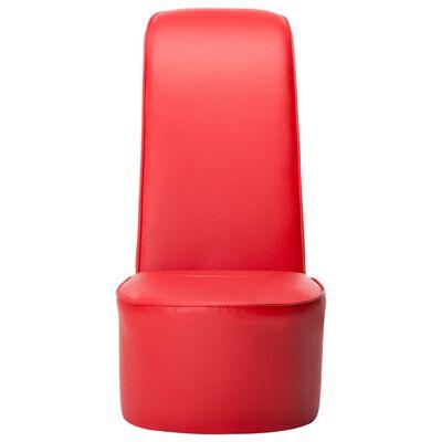 vidaXL Stol klacksko röd konstläder