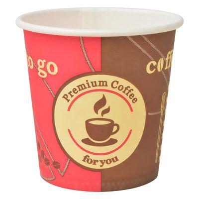 vidaXL Engångsmuggar 1000 st kaffe papper 120 ml (4 oz)