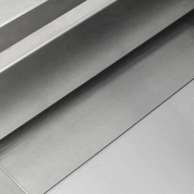 vidaXL Vattenfall 45x34x14 cm rostfritt stål 304