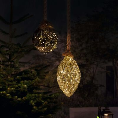 Luxform Batteridriven hänglampa LED Rope with Pine Cone