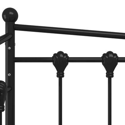 vidaXL Utdragbar sängram bäddsoffa svart metall 90x200 cm