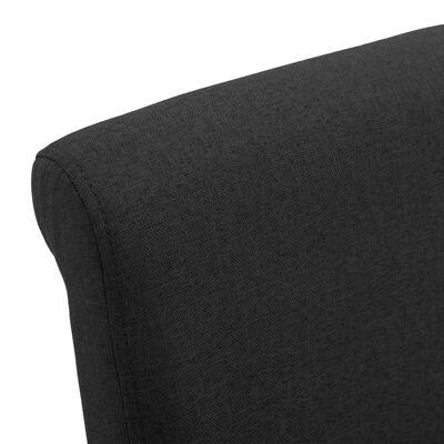 vidaXL Matstolar 6 st svart tyg