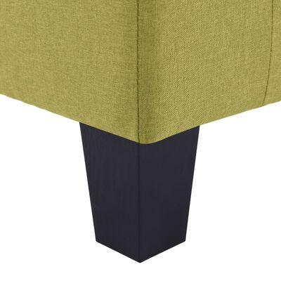 vidaXL 3-sitssoffa grön tyg