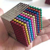Magnetiska bollar/kuber att bygga och lära med 1000 styck