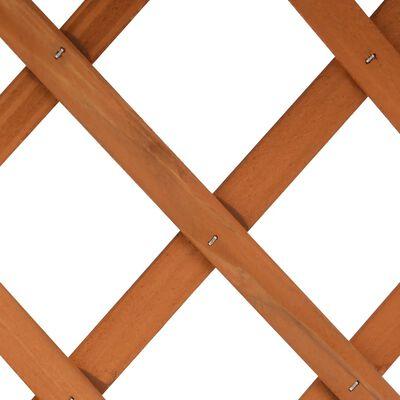 vidaXL Odlingslåda med spaljé orange 45x30x74 cm massivt granträ , Orange