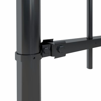 vidaXL Trädgårdsstaket med spjuttopp stål 5,1x0,8 m svart