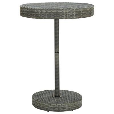 vidaXL Trädgårdsbord grå 75,5x106 cm konstrotting