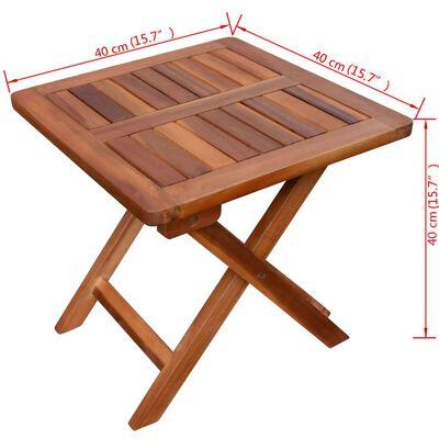 vidaXL Solsäng med bord massivt akaciaträ