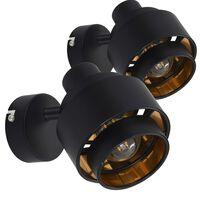 vidaXL Spotlights 2 st svart E14