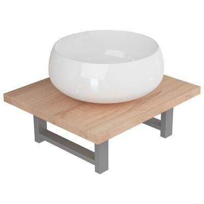 vidaXL Badrumsmöbler 2 delar keramik ek