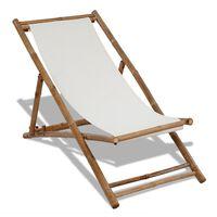 vidaXL Solstol bambu och kanvas
