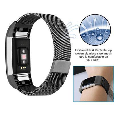 Fitbit Charge 2 armband milanesisk loop - Svart - S