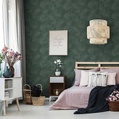 DUTCH WALLCOVERINGS Tapet Palm grön