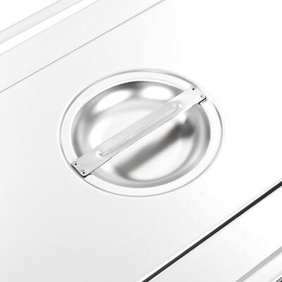 Lock till GN-kantin 1/1 2 st rostfritt stål