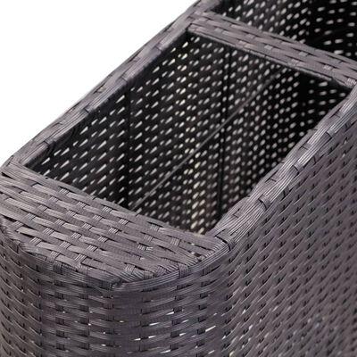 Odlingslåda upphöjd med 80x25x40 cm konstrotting svart, Svart