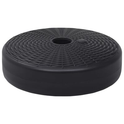 vidaXL Parasollfot sand/vattenfylld 24 L svart