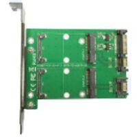 Dual mSATA till dual SATA Expansionskort, PCIe-kort, 22pin SATA, grön