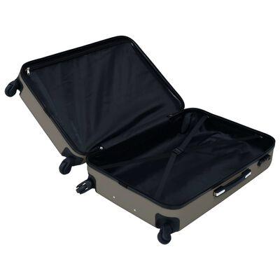 vidaXL Hårda resväskor 2 st antracit ABS