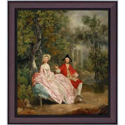 Med ram Conversation in the Park,Thomas Gainsborough,61x51cm