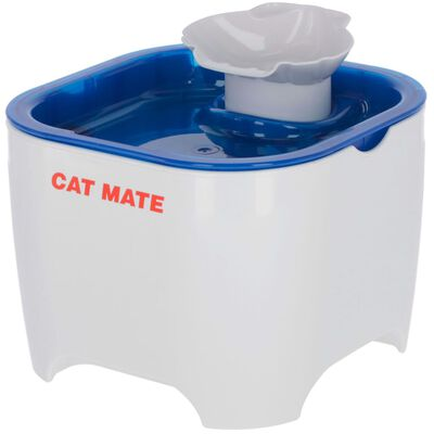 Kerbl Djurfontän Cat Mate 19x19x14,5 cm vit och blå