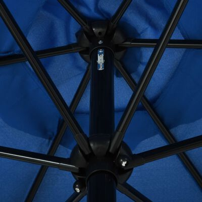 vidaXL Trädgårdsparasoll med metallstång 300x200 cm azur