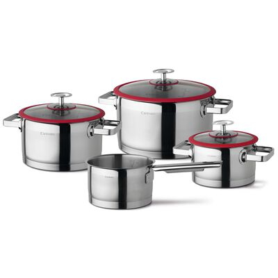 CUISINOX Köksset 4 delar silver och röd
